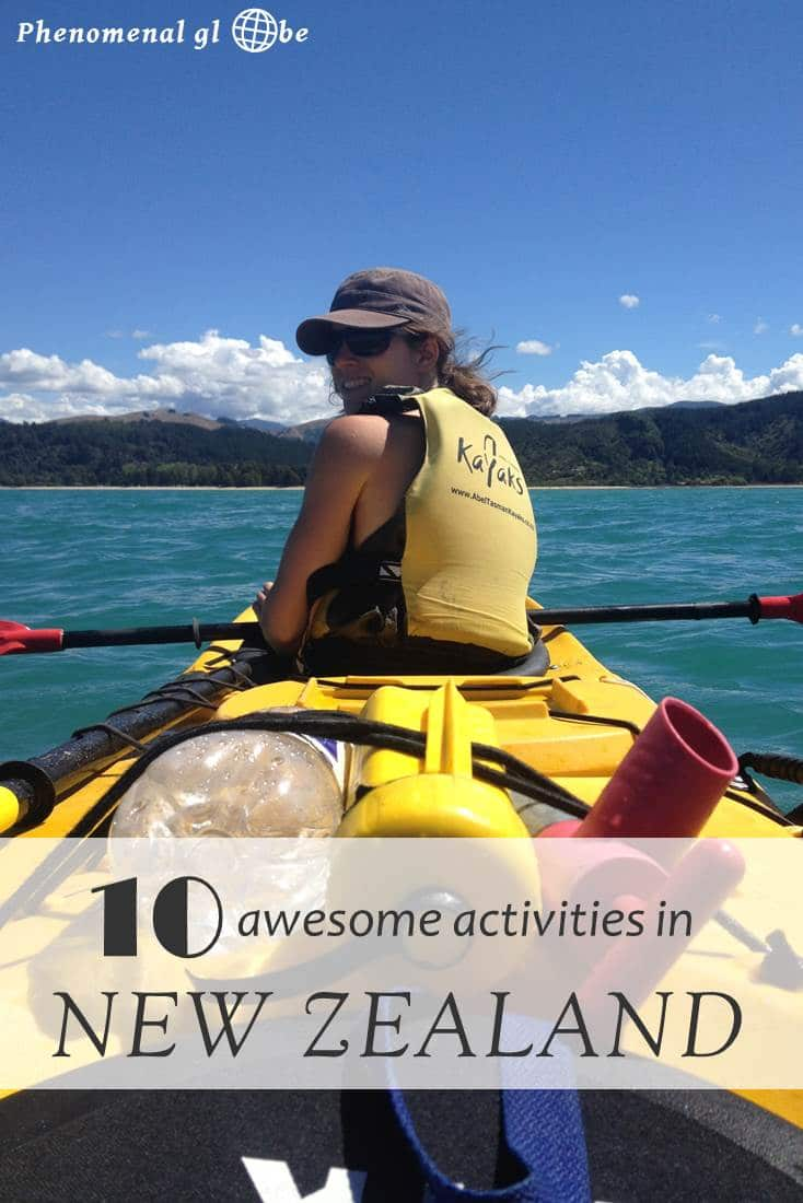 New Zealand is awesome and so are these activities! From hiking to kayaking and a cruise in the Milford Sound to a visit to Whakarewarewa thermal village, there is so much to do! #NewZealand #travel