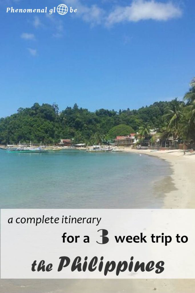 Detailed 3 week travel itinerary for the Philippines. Everything you need to know about getting from A to B on Luzon, Palawan and Bohol. #Philippines #itinerary #Luzon #ElNido #Bohol
