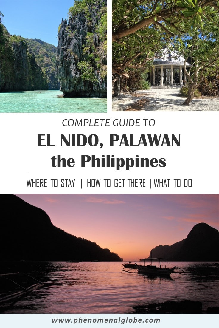 The ultimate travel guide to El Nido, a tropical paradise on the island Palawan in the Philippines. Detailed information about how to get there, what to do and where to stay in El Nido. El Nido is a great place for scuba diving and snorkeling, but also to relax on a perfect white sand beach. #Philippines #ElNido #Palawan