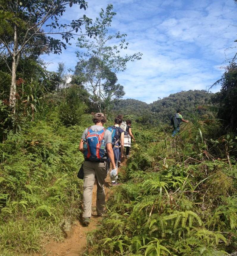 Hiking Banaue