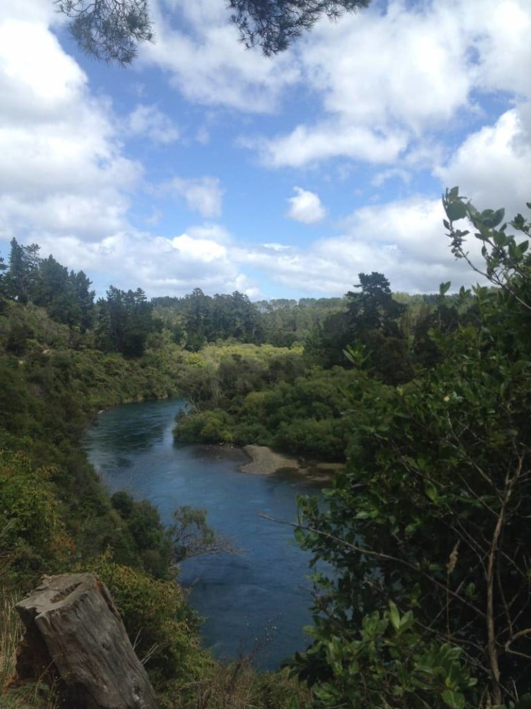 Huka Falls hike on the North Island of New Zealand