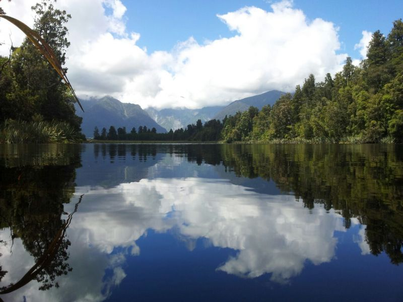 Reflections in Lake Matheson - Mount Cook mirror picture