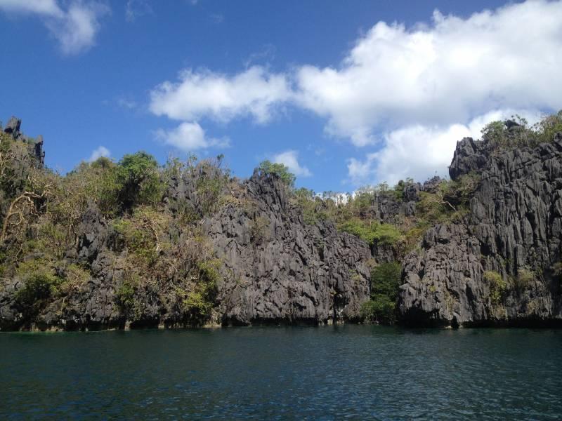 Impressive limestone formations...