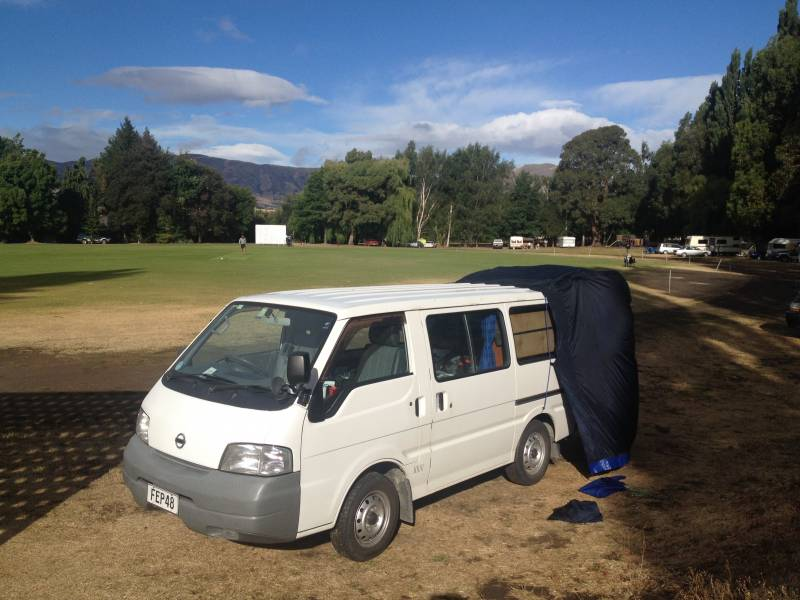 Luggate Cricket Club Campground - affordable campsite near Wanaka
