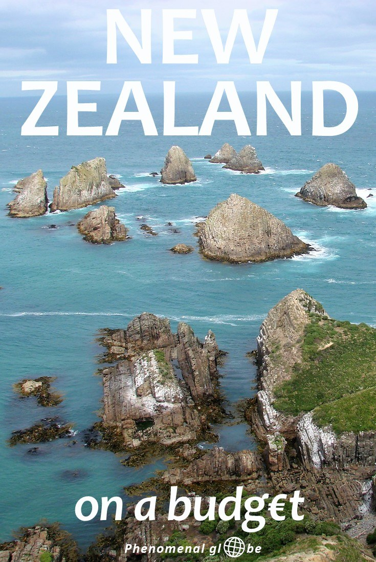 How to travel New Zealand on a budget! A trip to New Zealand doesn't have to be expensive, we spent €100/160 NZD per day during our road trip across New Zealand. Read a detailed budget breakdown and information about the costs of renting a campervan, campsites expenses, petrol prices and how much we paid for food & activities in New Zealand. #NewZealand #travelbudget