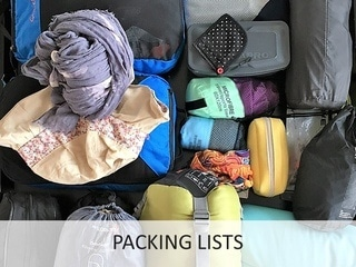 Packing lists - Phenomenal Globe Travel Blog