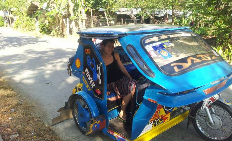 A tuktuk in the Philippines