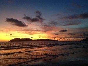 Sensational sunset on Langkawi Malaysia