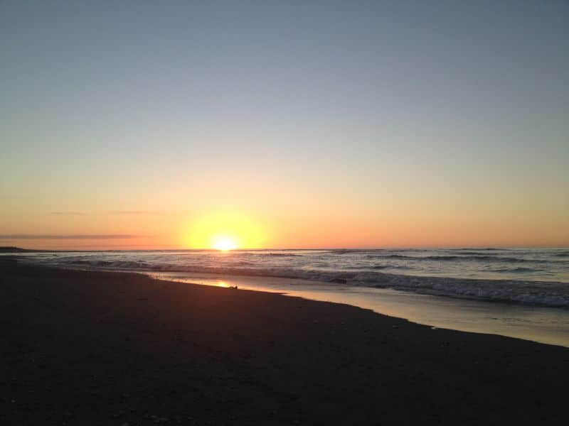 Sunset Point on the West Coast of New Zealand