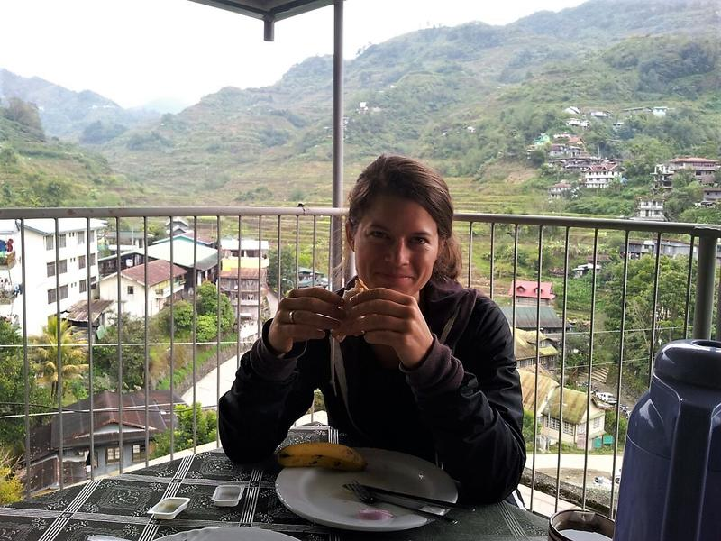 Breakfast with a view (Uyami's Green View Restaurant) before setting out on our 3 day Batad hiking tour
