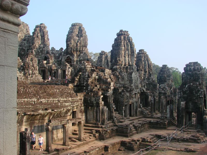 The Bayon tempel in Angkor Wat is one of the must see Temples of the Angkor complex