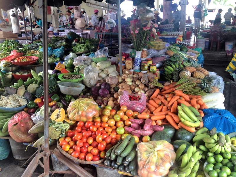 Fruits and vegetables at Hoi An Market