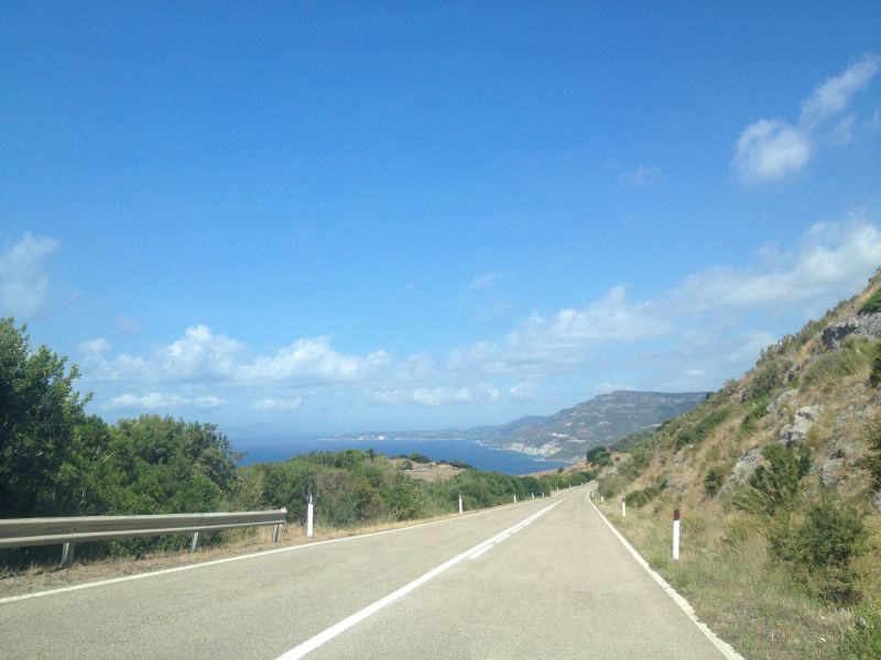 Driving a car around Sardinia