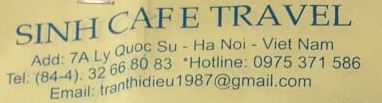 Sinh Cafe Travel Hanoi