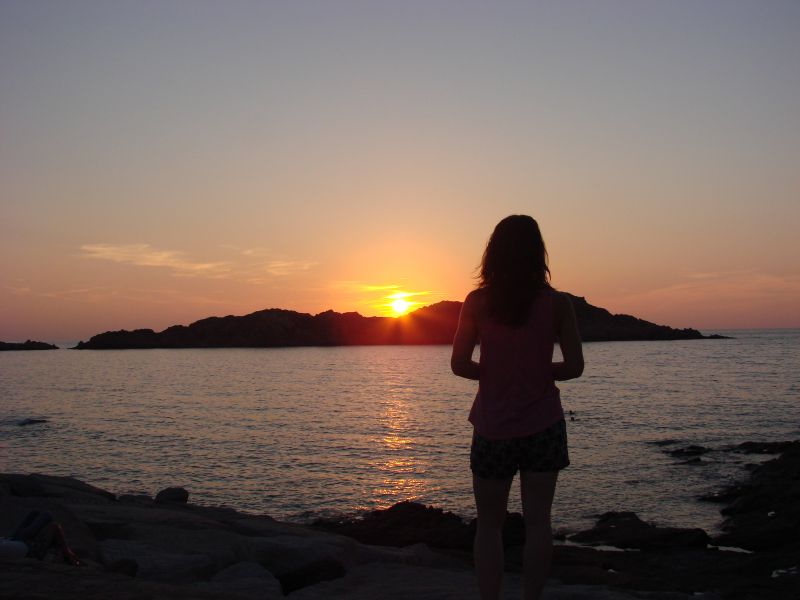 A beautiful sunset on Sardinia