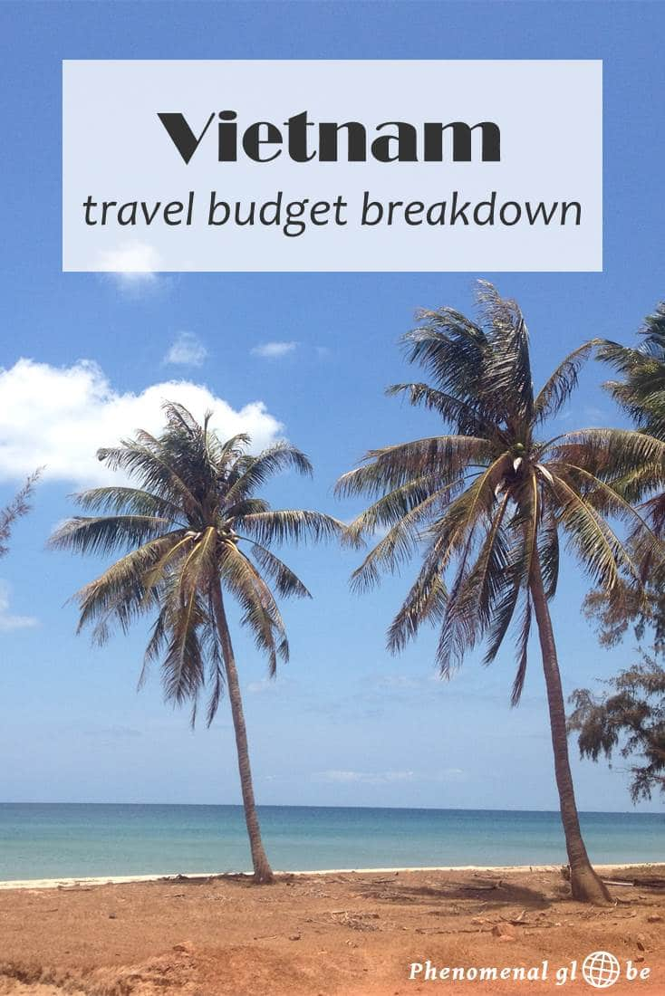 A detailed budget breakdown about the costs of travel in Vietnam (including accommodation, transport, food & drinks and activities). Find out exactly how much a 1 month trip around Vietnam costs and download a convenient budget breakdown infographic on Phenomenal Globe Travel Blog.