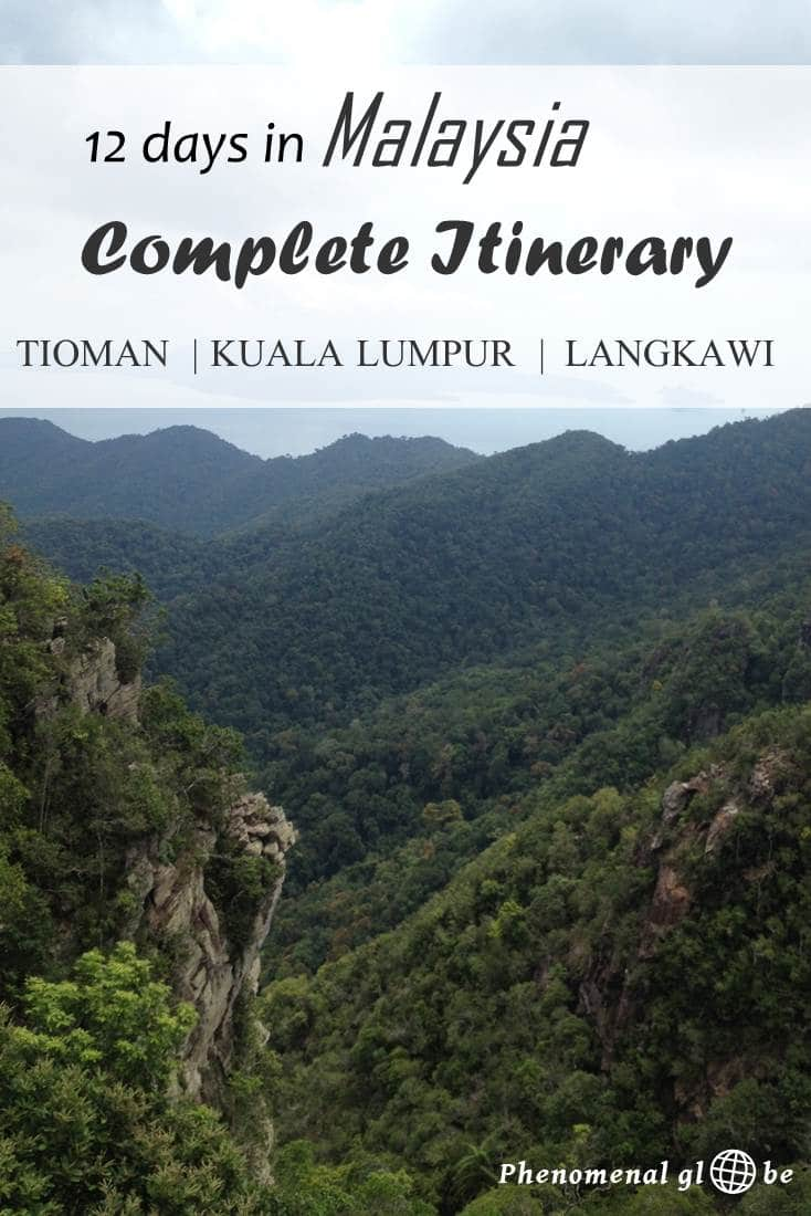 A detailed 12 day itinerary & travel map with everything you need to know about getting around in Malaysia when you are visiting Tioman, Kuala Lumpur and Langkawi.