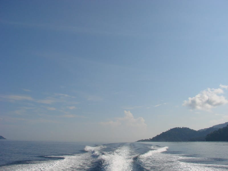 Boat to Tioman Island