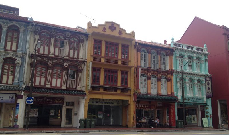 Exploring the quaint streets of Chinatown, what a cute and colorful houses!