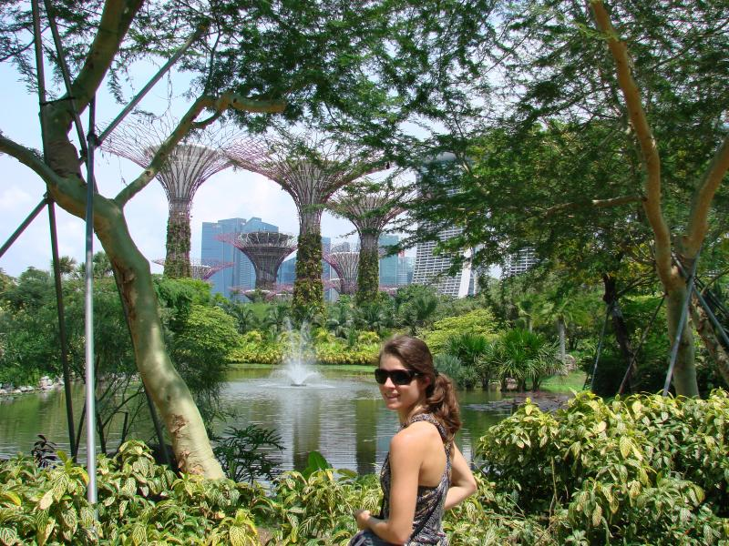 Walking through Gardens of the Bay, a green oasis in a busy city.