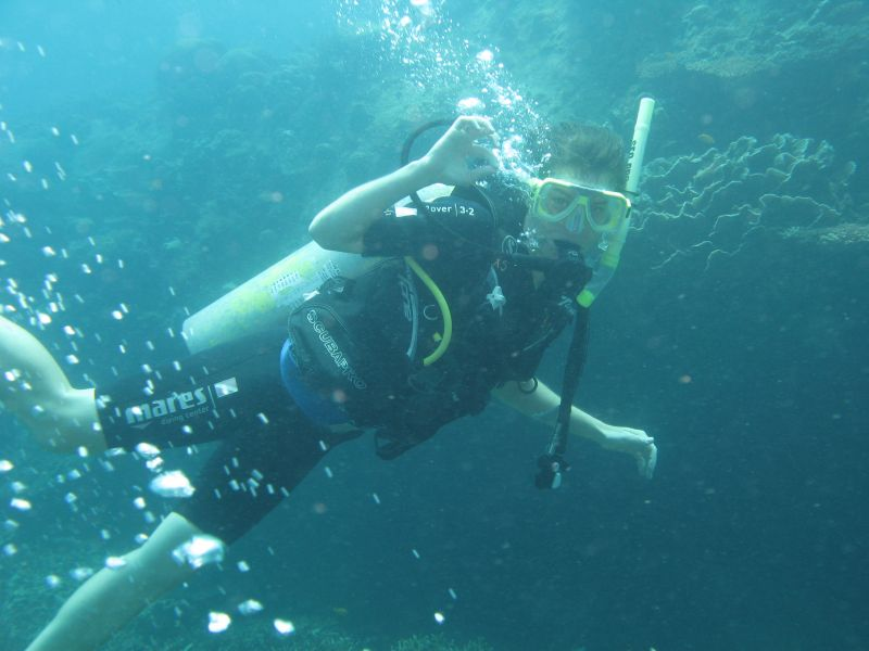 Scuba diving around Tioman