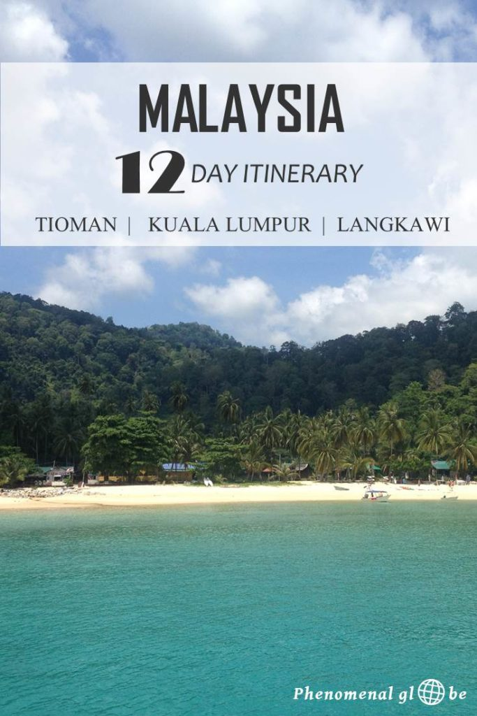 Are you planning to visit Malaysia? Check out this detailed 2-week (day by day) itinerary including Tioman, Kuala Lumpur and Langkawi. In the post you will find a travel map, accommodation advice and everything you need to know about getting around in Malaysia. #Malaysia #KualaLumpur #Tioman #Langkawi