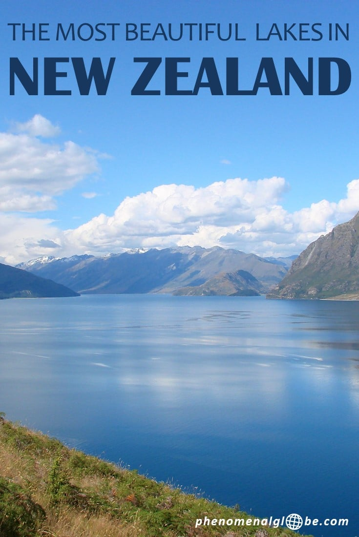Planning a trip to New Zealand? Check out the most beautiful lakes in New Zealand: Lake Tekapo, Lake Pukaki, Laka Wakatipu, Moke Lake, Lake Wanaka, Lake Hawea, Lake Paringa, Matheson, Lake Mahinãpua and The Emerald Lakes. #NewZealand #southisland #northisland