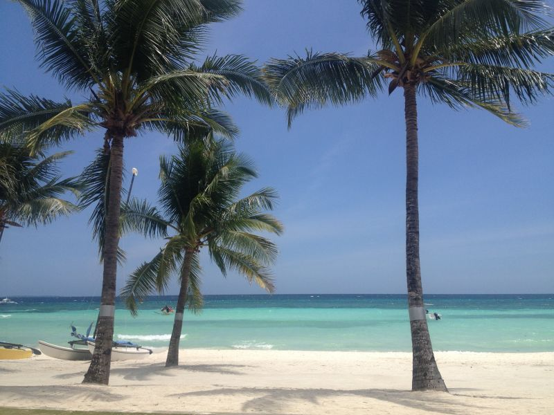 One of the perfect beaches on Panglao, Bohol in the Philippines