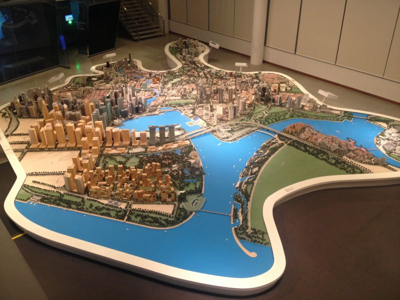 Visiting Singapore City Gallery where a 11 meter scale model of the city is on display. I am truly impressed by the amount of planning involved to maximize the use of the limited amount of square meters available.