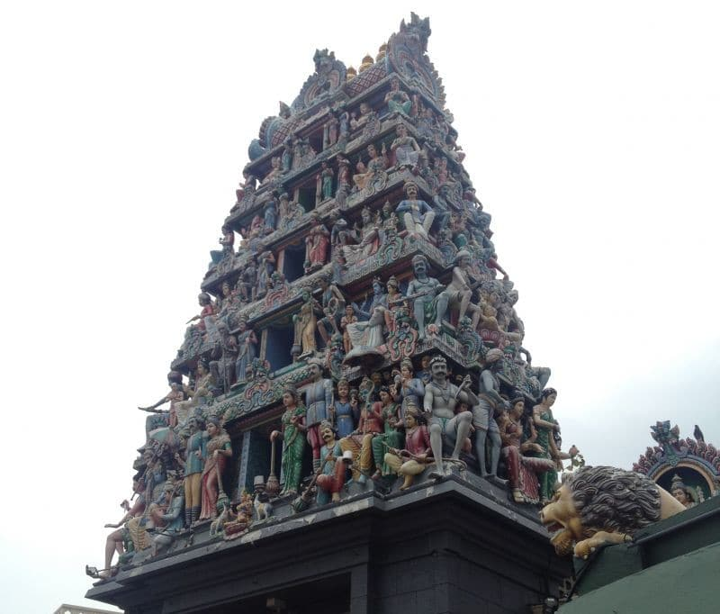 Wondering how many different animals are displayed at the Sri Mariamman Temple