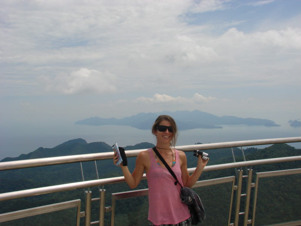 Things to do on Langkawi: take the cable car and walk over the skybridge