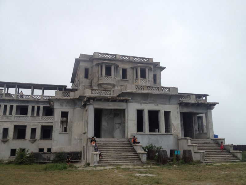 Abandoned building Bokor Hill Station Cambodia