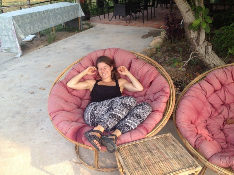 Cambodia most relaxed chair in the world