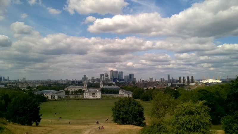 London Greenwich Canary Warf view