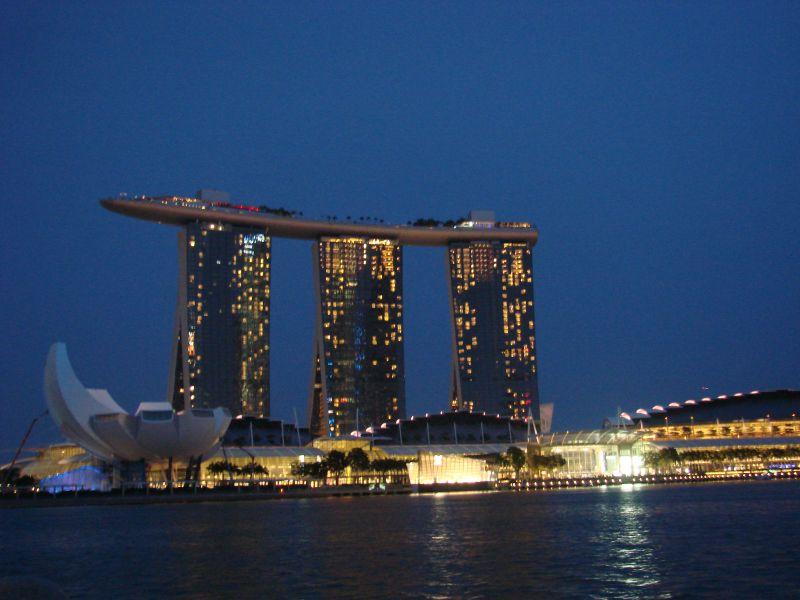 Singapore by night skyline
