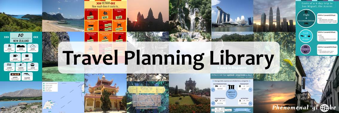 In the Phenomenal Globe Travel Planning Library you can find all the travel planning resources I have created, such as budget breakdown infographics, itineraries, my packing list and other convenient lists. Check it out => https://www.phenomenalglobe.com/travel-planning-library/