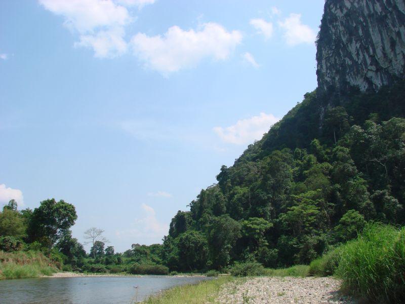 Vang Vien Limestone Cliffs