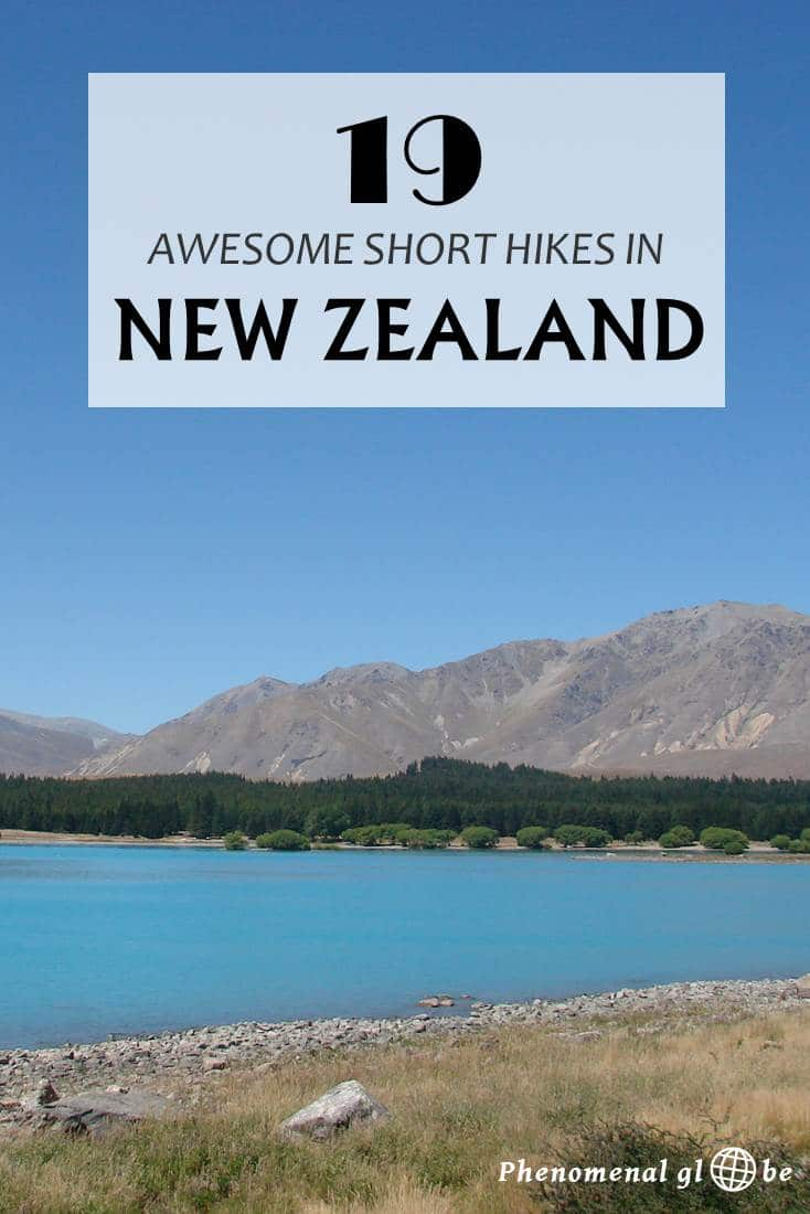 New Zealand a paradise for hikers with countless amazing hikes and tracks! Check out these 19 great short and easy hikes on the North Island and South Island of New Zealand. Includes a printable map where to find the hikes, hiking duration and hiking advice. #NewZealand #hiking #tramping