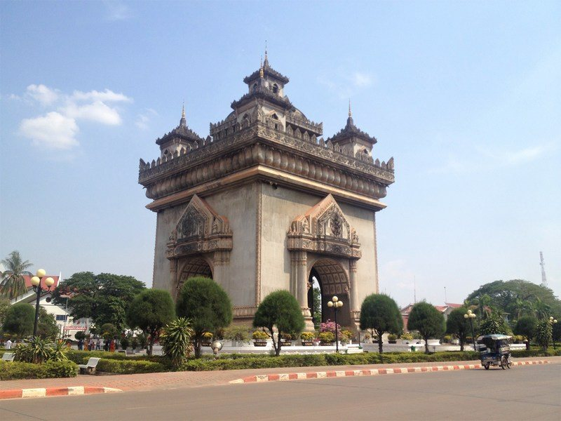The Patuxai in Vientiane, Laos