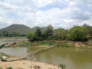 Bamboo bridge Luang Prabang Laos