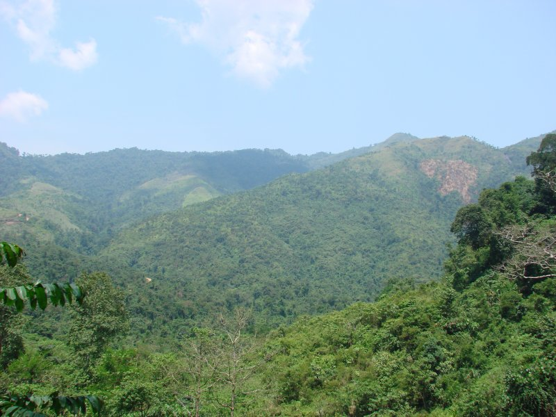 Laos is a very mountainous and green country in Southeast Asia