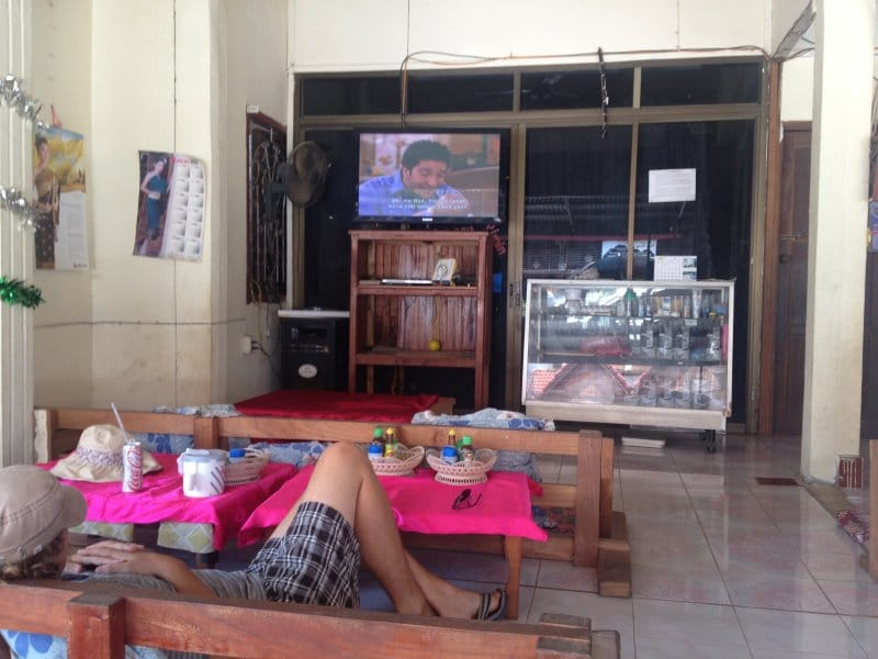 Watching Friends is a must in Vang Vieng, Laos