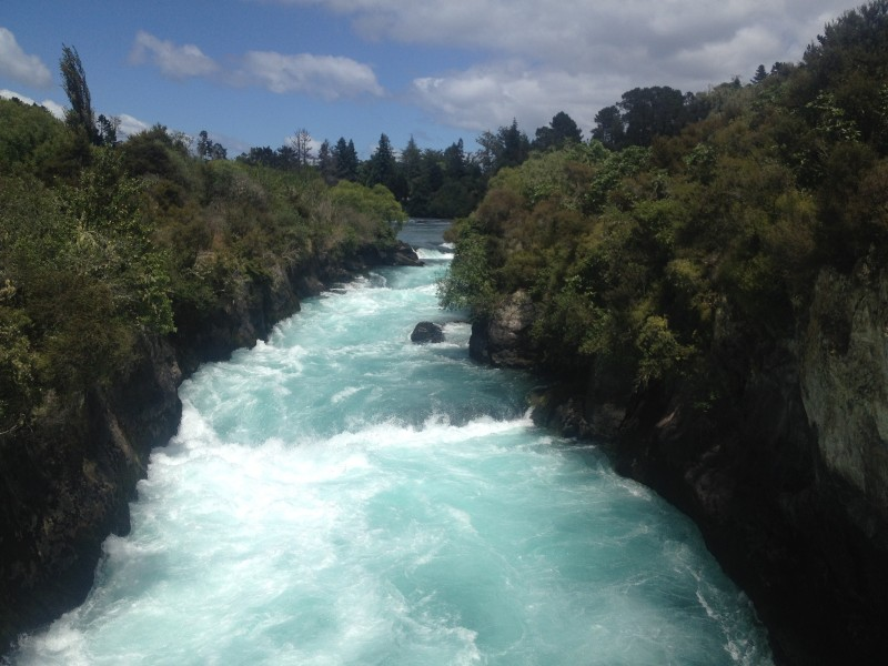 Huka Falls hike North Island New Zealand