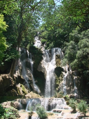 Kuang Si Waterfalls mountain bike Luang Prabang Laos