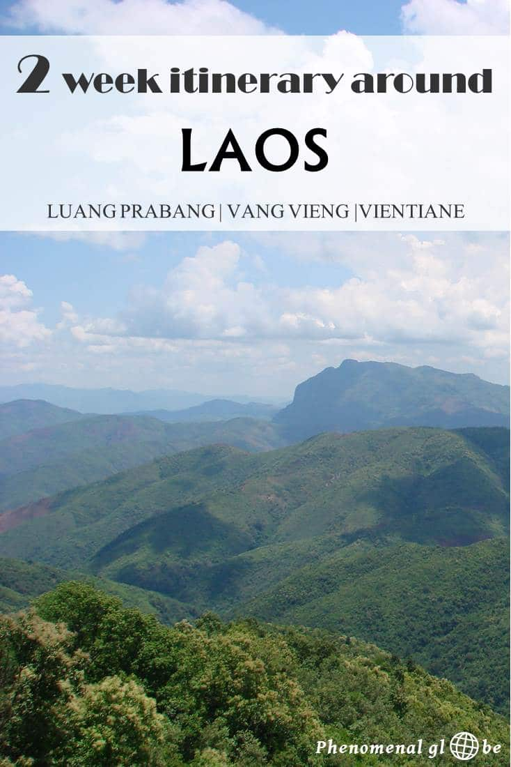 A 2 week itinerary for Luang Prabang, Vang Vieng and Vientiane in Laos. Information how to get from A to B and downloadable pfd with detailed travel information. #Laos #SoutheastAsia