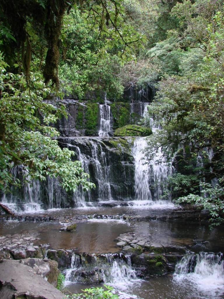 Purakaunui Falls Walk in the Catlins, New Zealand