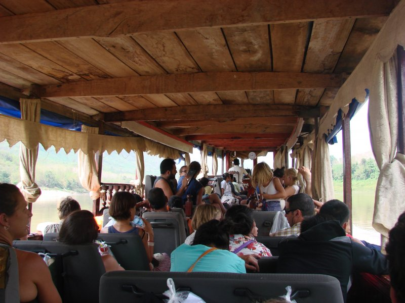 Traveling by slow boat from Huai Xai to Luang Prabang