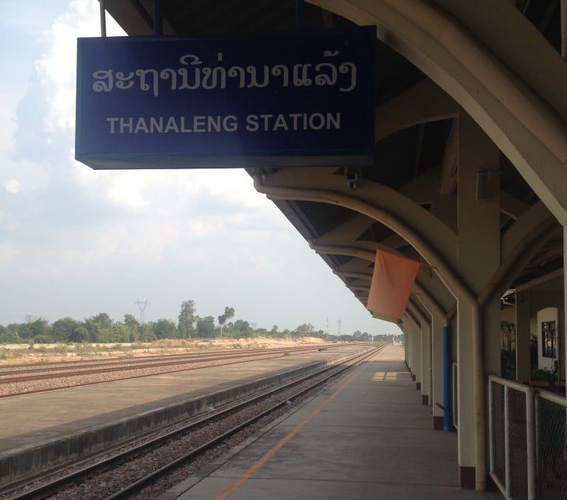 As you can see it was extremely busy at Thanaleng Station, the only train station and tracks in Laos!