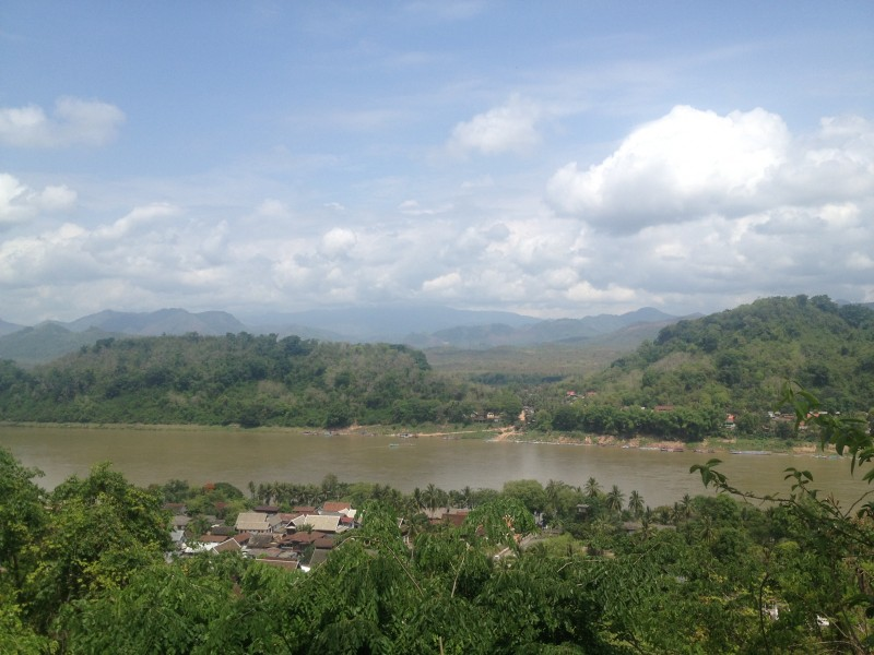 View Phu Si Mountain Luang Prabang Laos