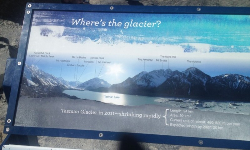 Where is the Tasman Glacier New Zealand